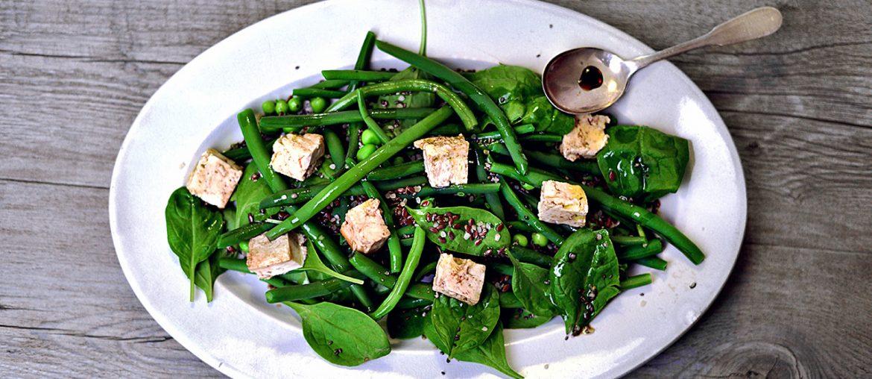 insalata di fagiolini e tofu